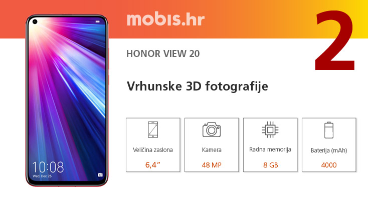 Honor View 20 gamerski mobitel s 48MP