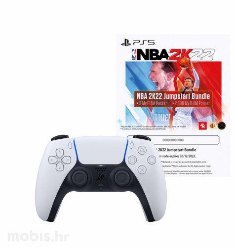 PlayStation 5 DualSense bežični kontroler + NBA 2K22 Jumpstart vaučer