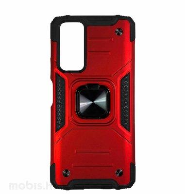MaxMobile Anti-Shock With Ring II plastična maska za Samsung Galaxy A03s: crvena
