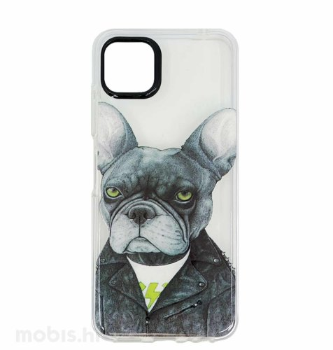 MaxMobile plastična maska za Samsung Galaxy A03s: slika psa, prozirna