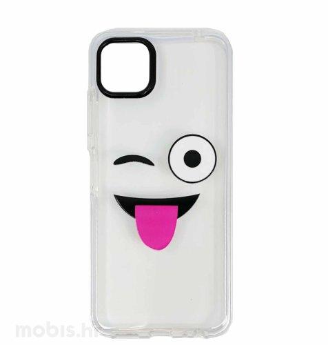 MaxMobile plastična maska za Samsung Galaxy A03s: Smile, prozirna
