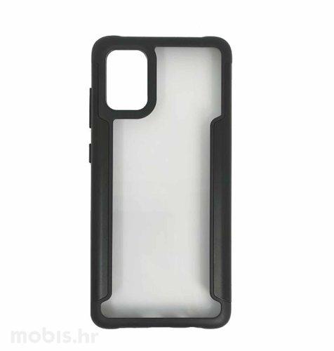MaxMobile Clear/Leather Frame plastična maska za Samsung Galaxy A02s: crna