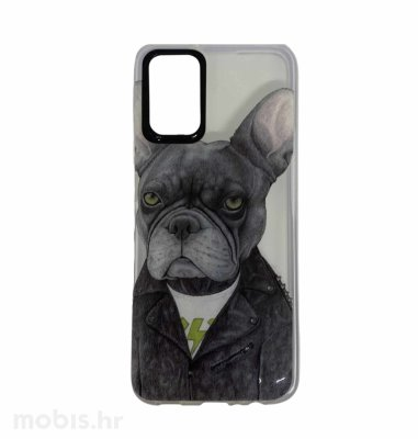 MaxMobile plastična maska za Samsung Galaxy A02s: slika psa, prozirna
