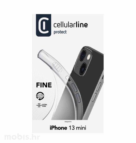 Cellularline silikonska zaštita za iPhone 13 Mini: prozirna