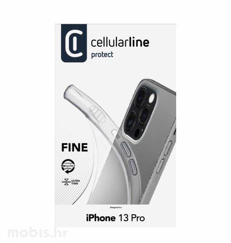 Cellularline silikonska zaštita za iPhone 13 Pro: prozirna