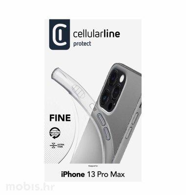 Cellularline silikonska zaštita za iPhone 13 Pro Max: prozirna