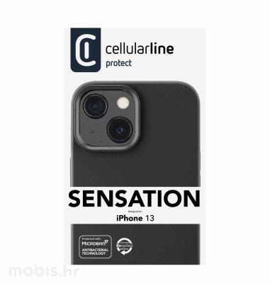 Cellularline plastična zaštita za iPhone 13: crna