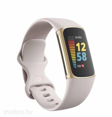 Fitbit Charge 5 pametna narukvica: zlatno-bijela