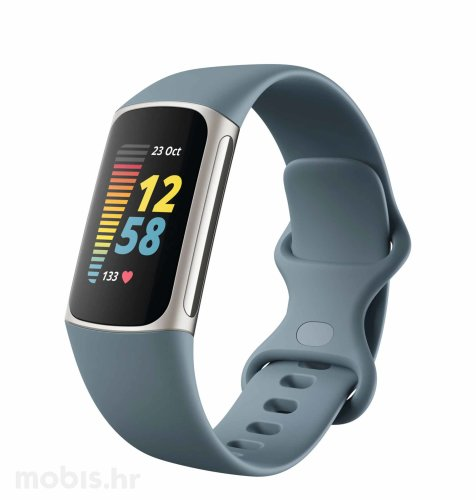 Fitbit Charge 5 pametna narukvica: sivo-plava