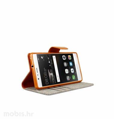"Preklopna maska ""Fancy"" za Huawei P9 lite: sivi"