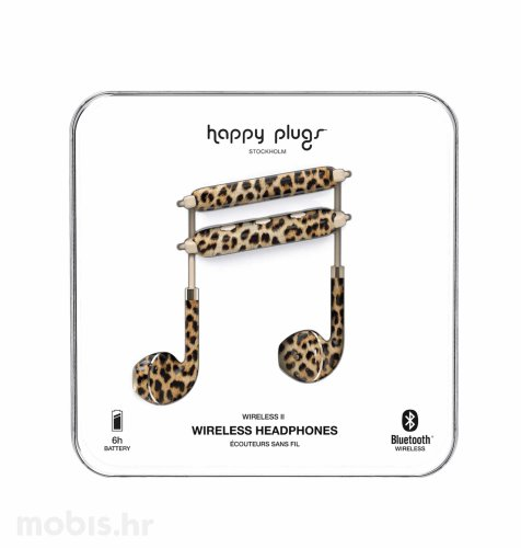 Happy Plugs wireless 2 bežične slušalice: leopard