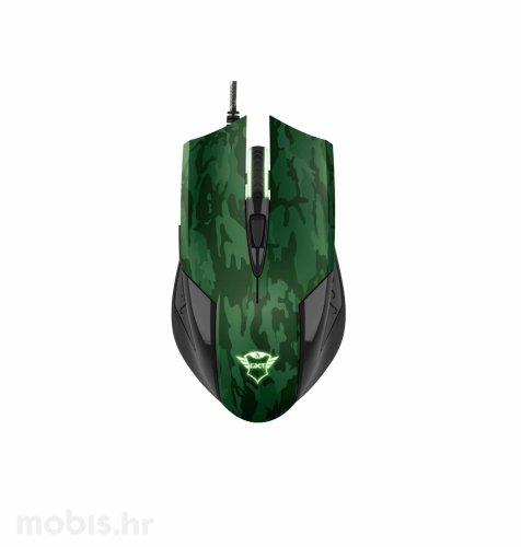 Trust Rixa miš + podloga (GXT781): maskirno zelena