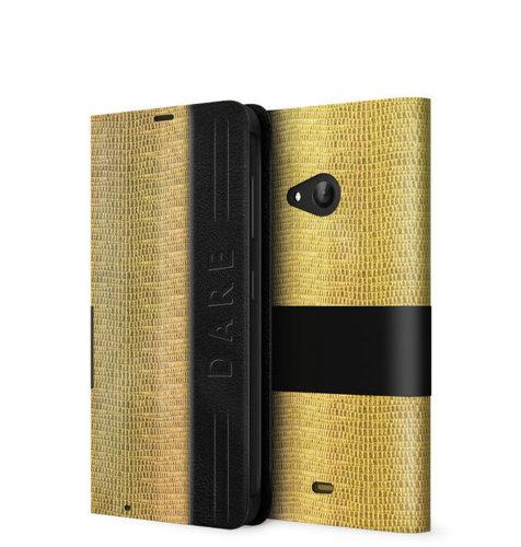 Mozo preklopna maska Lumia 535: zlatna