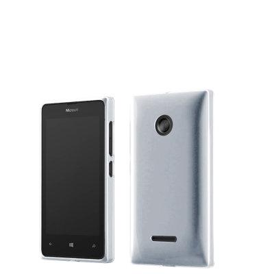 Mozo plastična maska Lumia 532 srebrna