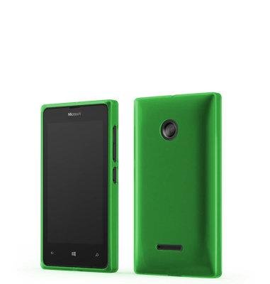 Mozo plastična maska Lumia 532 zelena