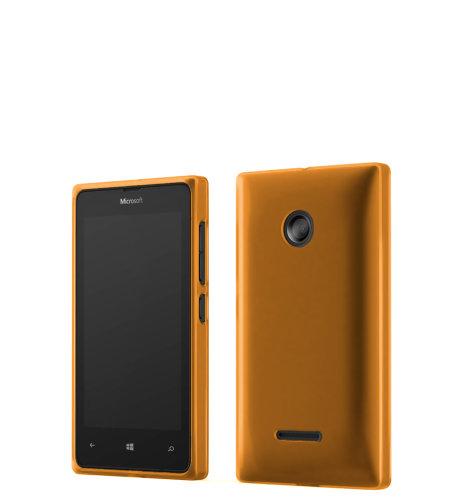 Mozo plastična maska Lumia 532 narančasta