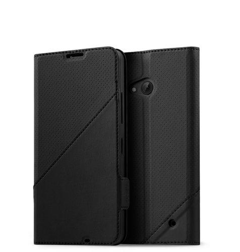 Mozo preklopna maska Lumia 640: crna golf