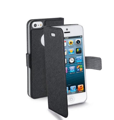 Cellular Line preklopna zaštita za uređaj iPhone 5: crna