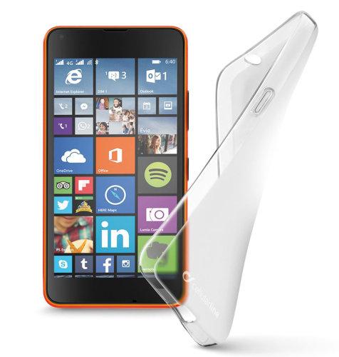 Cellular Line silikonska prozirna zaštita za uređaj Lumia 535