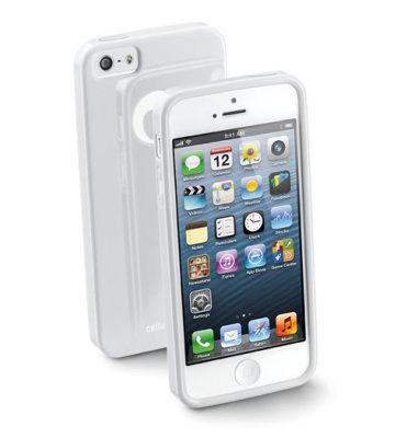 Cellular Line silikonska zaštita za uređaj iPhone5: bijela