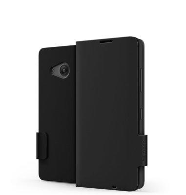 Mozo preklopna maska Lumia 550: crna
