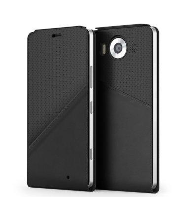 Mozo NT preklopna maska Lumia 950: crna + WLC & NFC