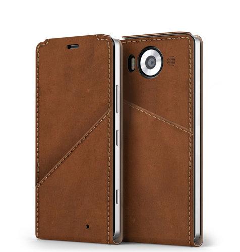 Mozo NT preklopna maska Lumia 950: smeđa + WLC & NFC