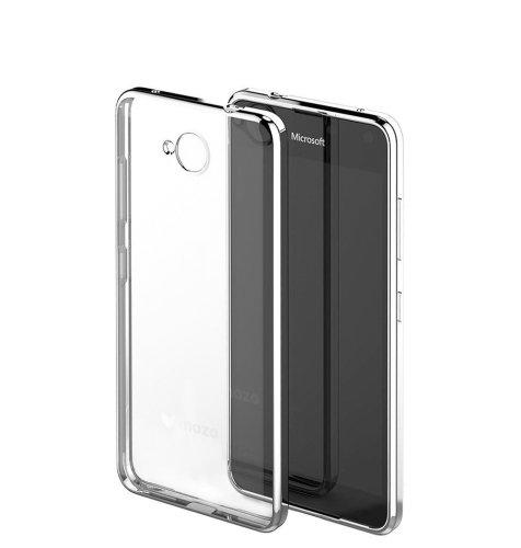 Mozo maska Lumia 650: srebrna