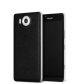 Mozo kožna maska Lumia 950: crno - srebrna + WLC & NFC