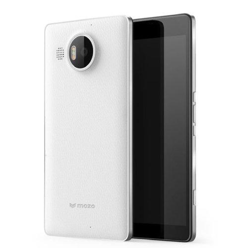 Mozo kožna maska Lumia 950XL: bijelo - srebrna + WLC & NFC
