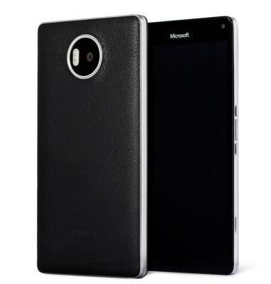 Mozo kožna maska Lumia 950XL: crno - srebrna + WLC & NFC