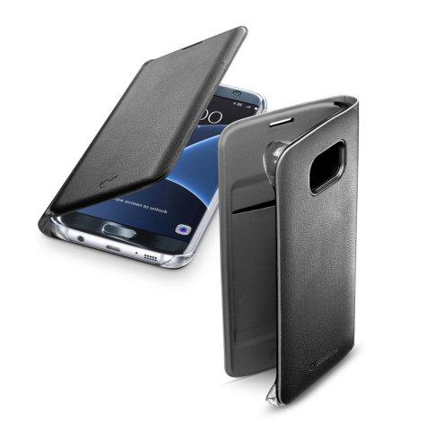 Cellular Line preklopna zaštita za uređaj Samsung Galaxy S7E: crna s poklopcem za bateriju