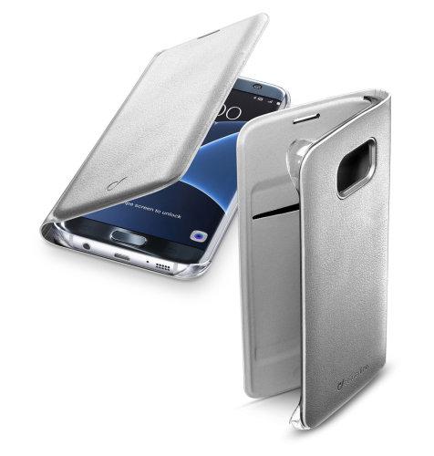 Cellular Line preklopna zaštita za uređaj Samsung Galaxy S7E: srebrna s poklopcem za bateriju