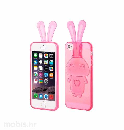 """Zadnje kućište """"Bunny"""" za Apple iPhone 5/5S/SE: roza"""