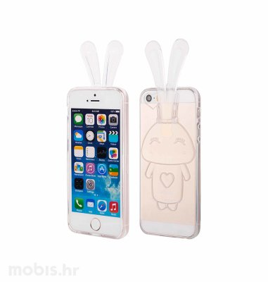 "Zadnje kućište ""Bunny"" za Apple iPhone 5/5S/SE: prozirna"