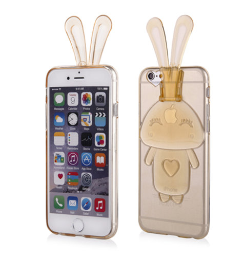 Maskica Bunny za Apple iPhone 6/6s: zlatna
