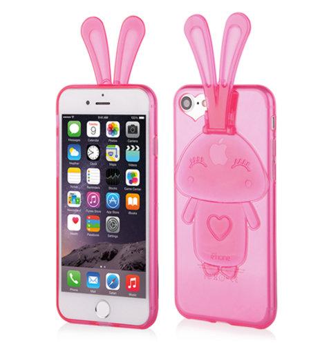 Maskica Bunny za Apple iPhone 7: roza
