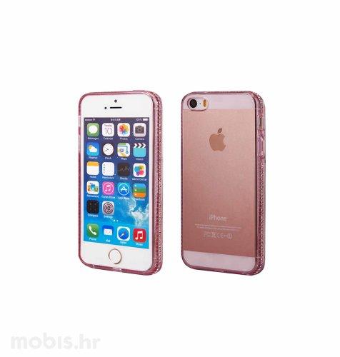 """Zadnje kućište """"Crystals"""" za Apple iPhone 5/5S: roza"""