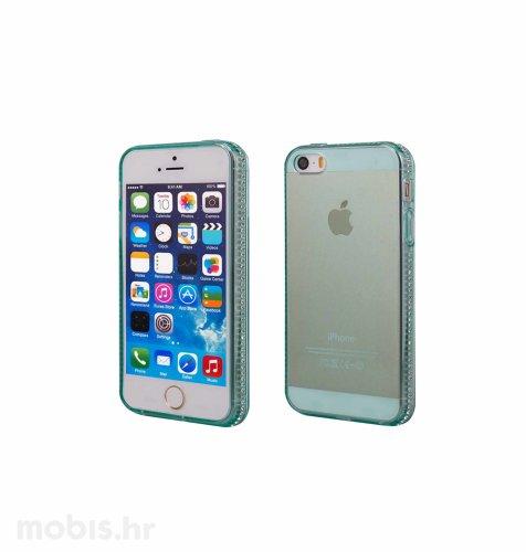 "Zadnje kućište ""Crystals"" za Apple iPhone 5/5S: zelena"