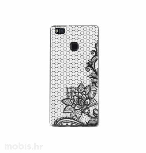 "Zadnje kućište ""Lace"" za Huawei P9 flower: crni"
