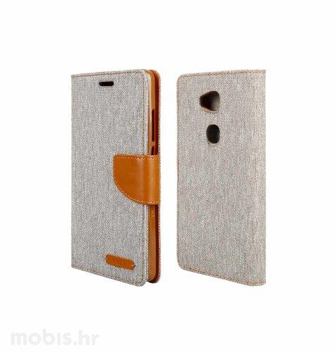 "Preklopna maska ""Fancy"" za Huawei Honor 7 lite: sivi"