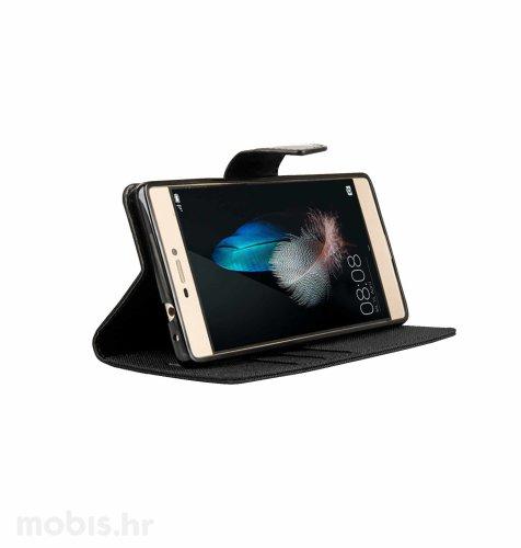 "Preklopna maska ""Fancy"" za Huawei P8: crni"