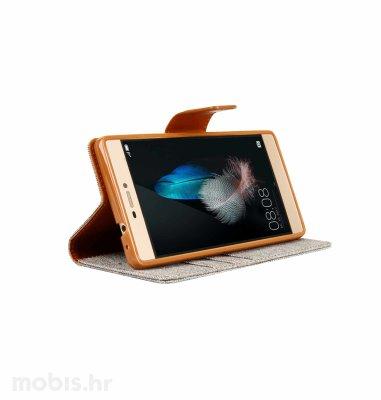 "Preklopna maska ""Fancy"" za Huawei P8 lite: sivi"