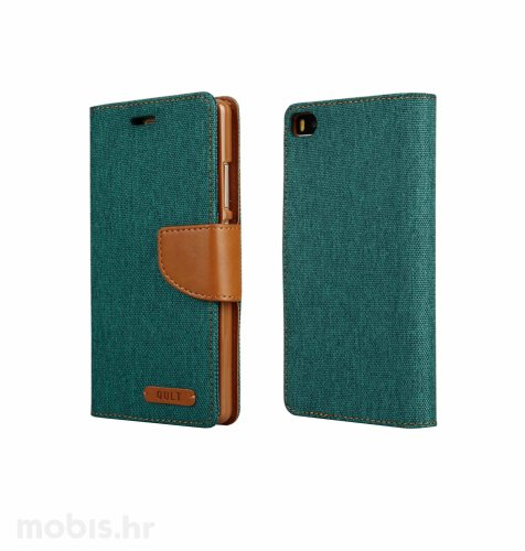"Preklopna maska ""Fancy"" za Huawei P8 lite: zeleni"
