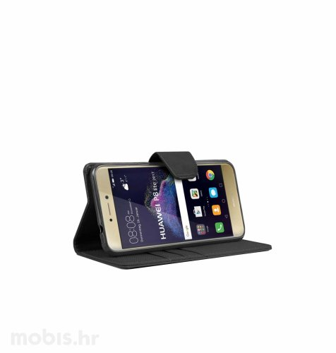 "Preklopna maska ""Fancy"" za Huawei P9 lite: crni"
