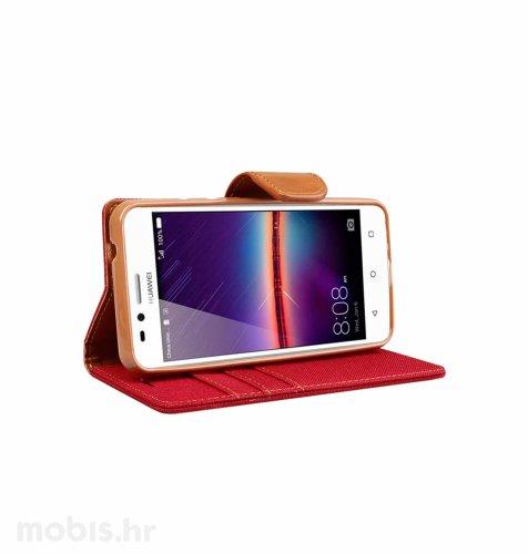 "Preklopna maska ""Fancy"" za Huawei Y3 II: crveni"