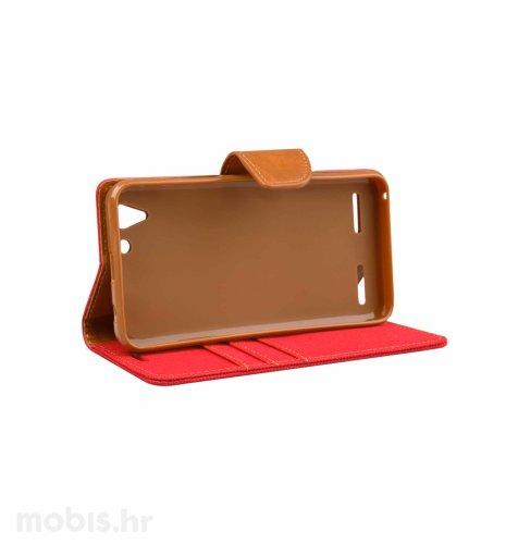 "Preklopna maska ""Fancy"" za Lenovo Vibe K5 (a6020a40): crveni"
