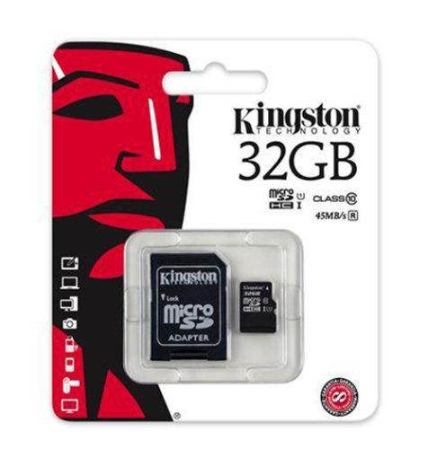 Kingston memorijska kartica microSD 32GB: CLASS 10 UHS-I + 1AD KIN