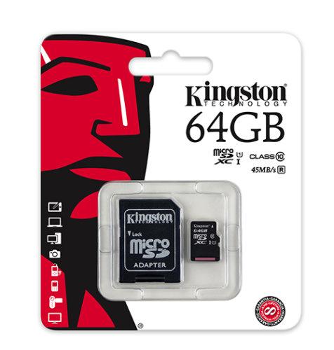 Kingston memorijska microSD 64GB: CLASS 10 UHS-1 + 1AD KIN