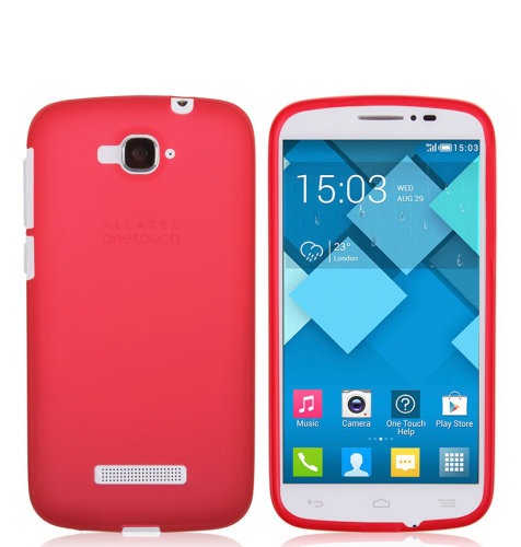 TPU maska Alcatel Pop C7: crvena